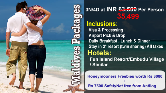 Maldives Packages Limited Period Sale Upto 47 Off